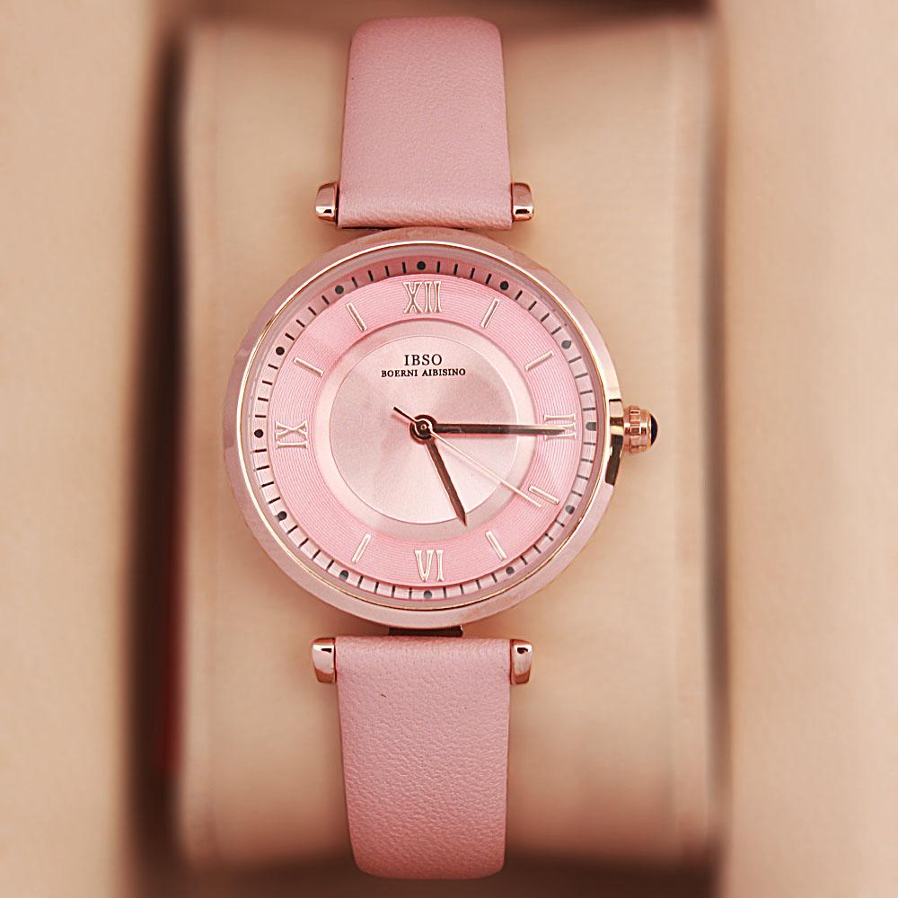 Vintage Barbie Pink Leather Slim Ladies Watch