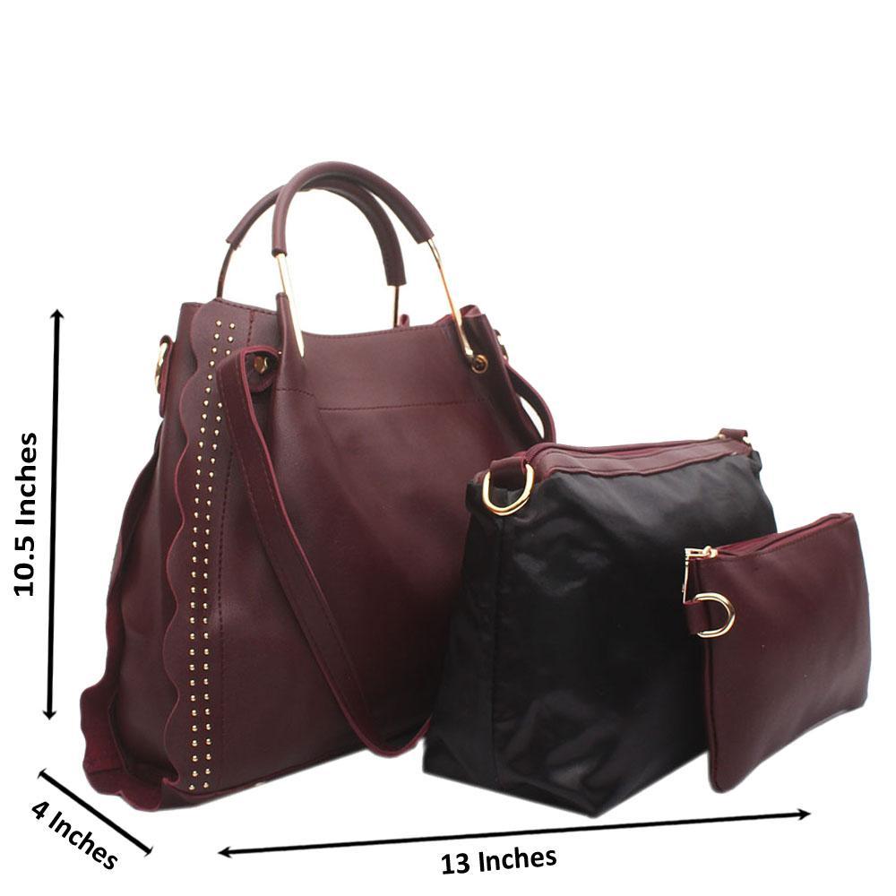 Wine Eva Leather Handbag