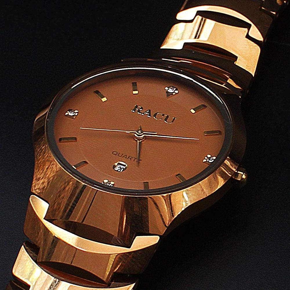 Shanghai Azari Brown Face Gold Ceramic Watch