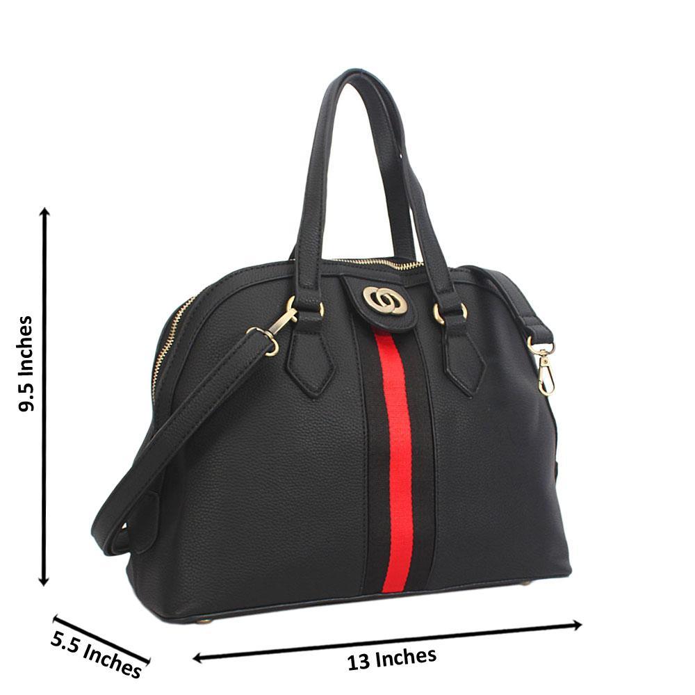Black Diane Leather Tote Handbag