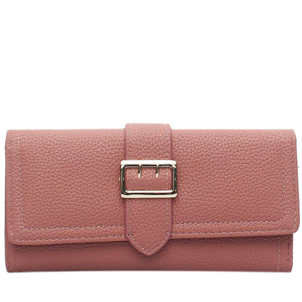 Peach Leather Ladies Wallet