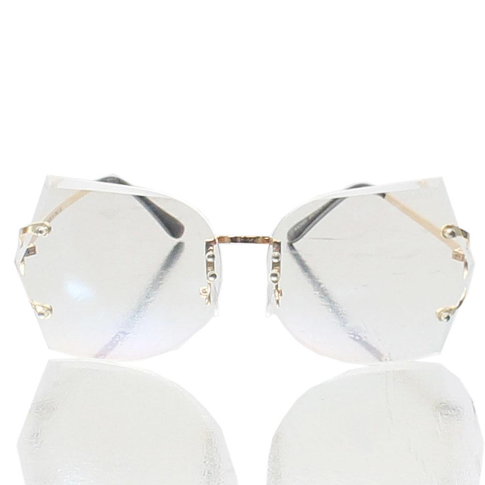 Gold Ivanna Transparent Lens Glasses