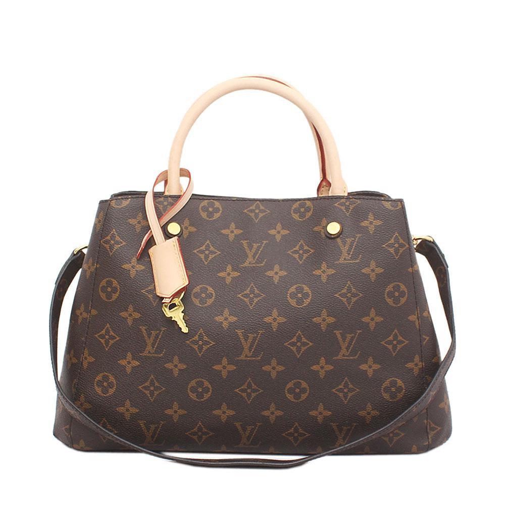 Louis Vuitton Brown Saffiano Leather Montaigne MM Bag