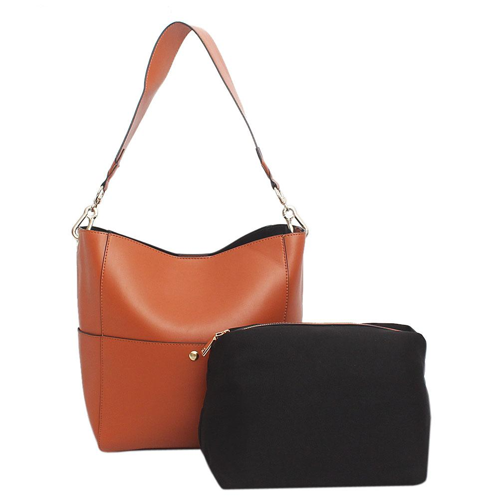 Famous Brown Leather Shoulder Bag
