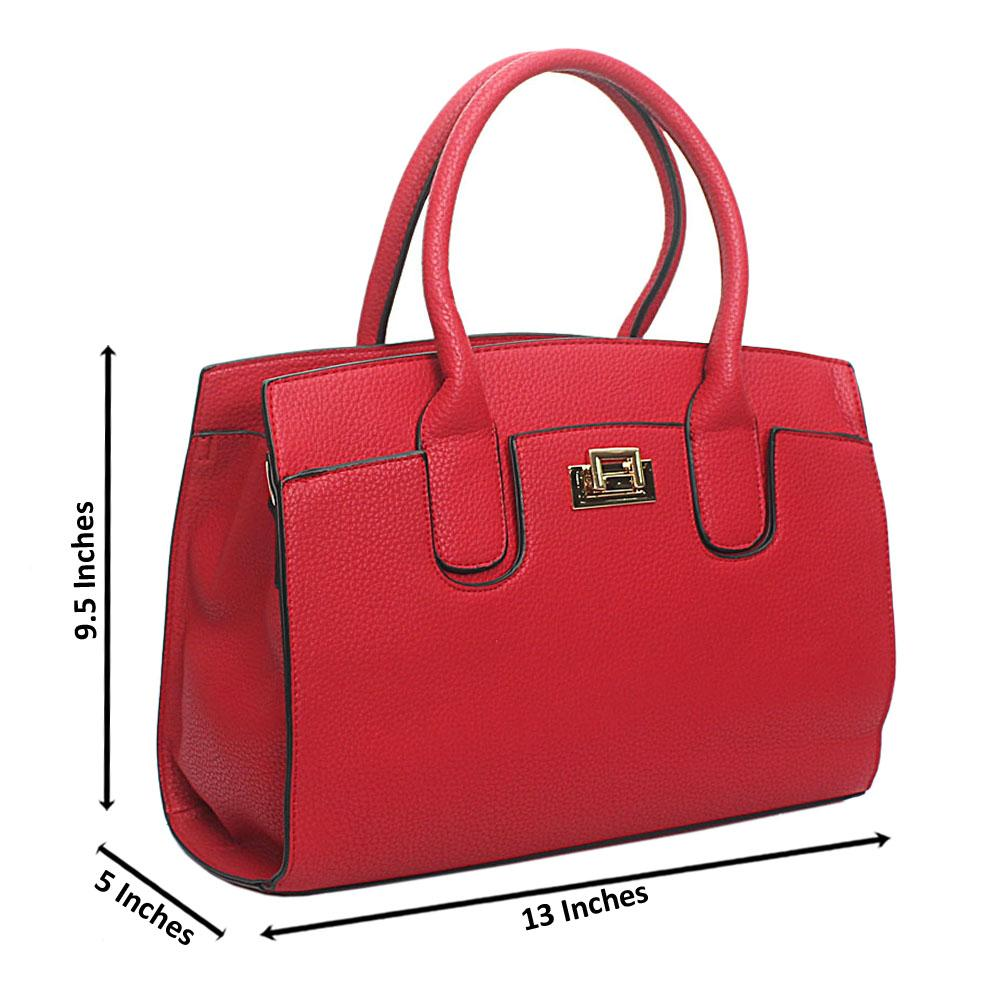 Red Leather Medium Blossom Handbag