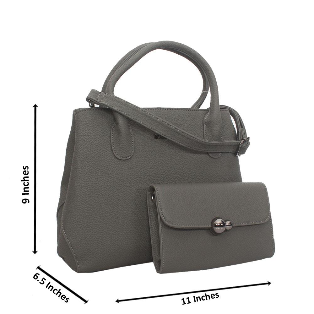Gray Alia Tuscany Leather Tote Handbag