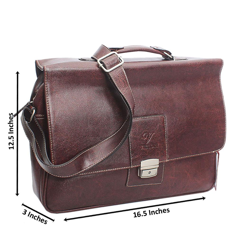 Coffee Clip Leather Briefcase