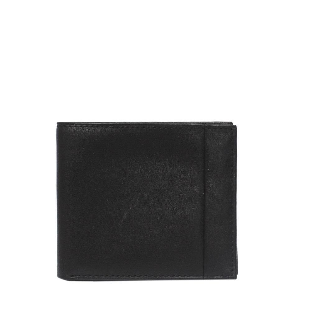 M & S Black Italian Leather Men Hip Wallet