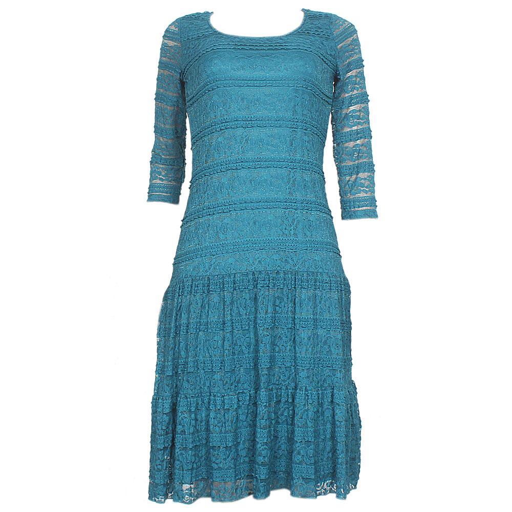 Per Una Green S/Sleeve Lace Dress