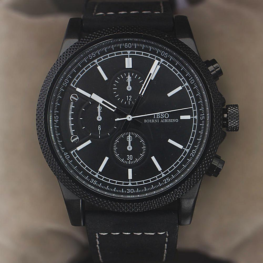 Legend Black White Leather Watch
