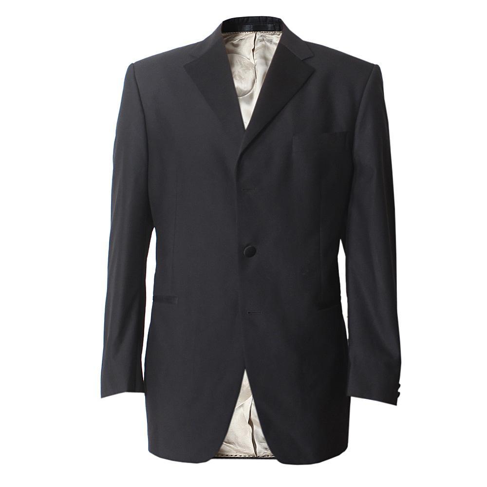 M & S Collezione Black Men''s L/S Suit Jacket -Size-42, Length-Medium