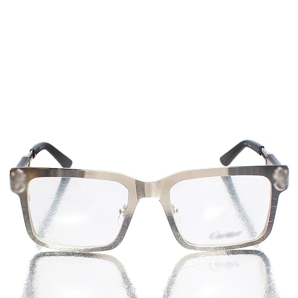 Silver Black Classic Clear Lens Glasses