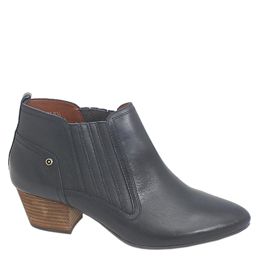 Indigo Collection Navy Leather Ladies Ankle Boot