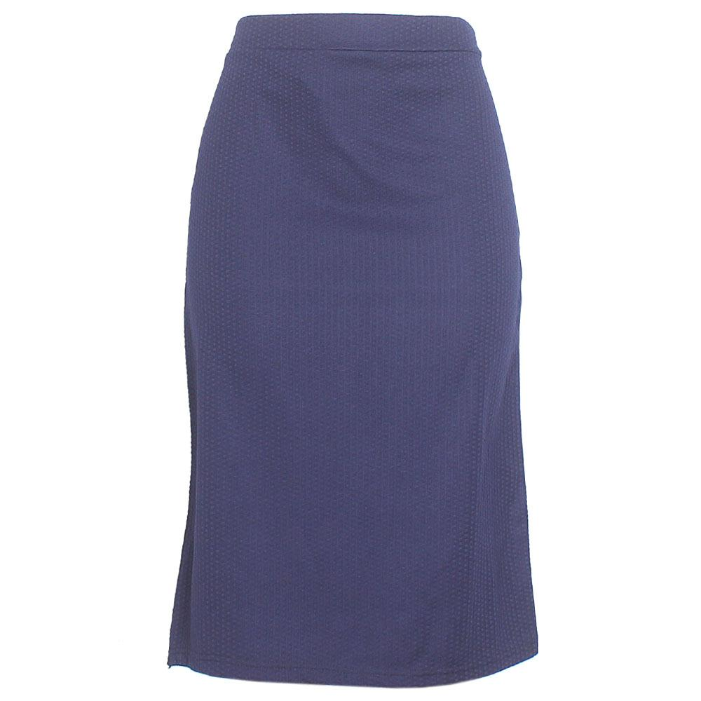 Navy Cotton Stretch Skirt
