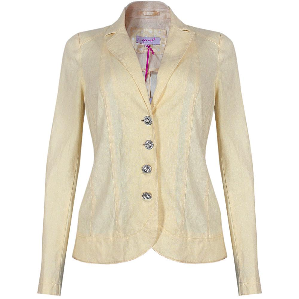 M & S Per Una Yellow Wool Longsleeve Ladies Jacket - 14