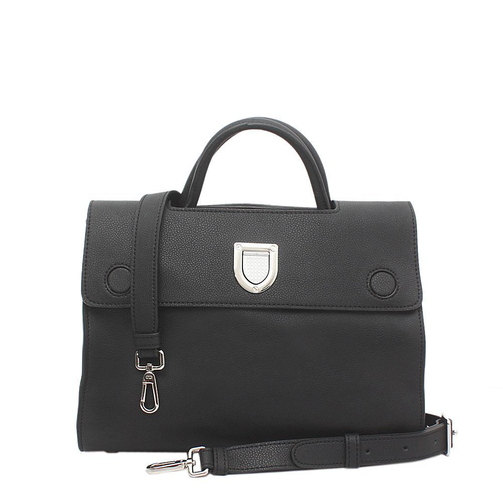 Black Calfskin Leather Timeless Pieces Bag