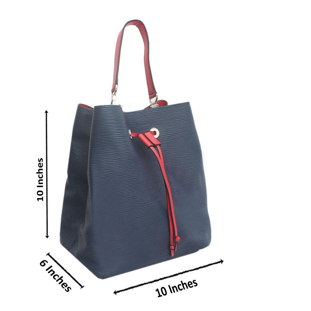 Blue Vintage Epi Saffiano LeatherHandbag