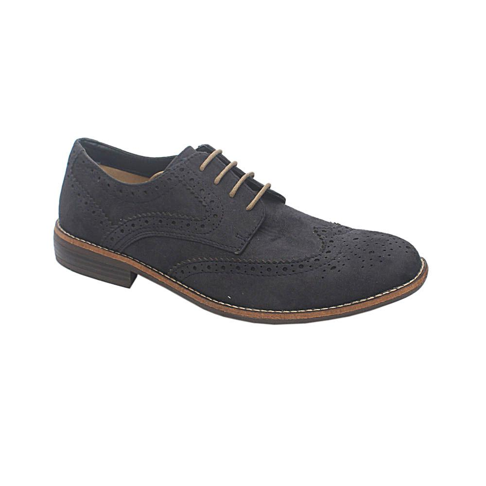 M & S Essentials Navy Suede Leather Shoe