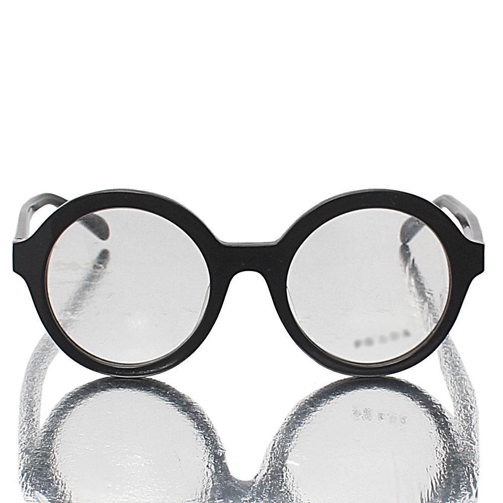 Black Round Transparent Lens Glasses