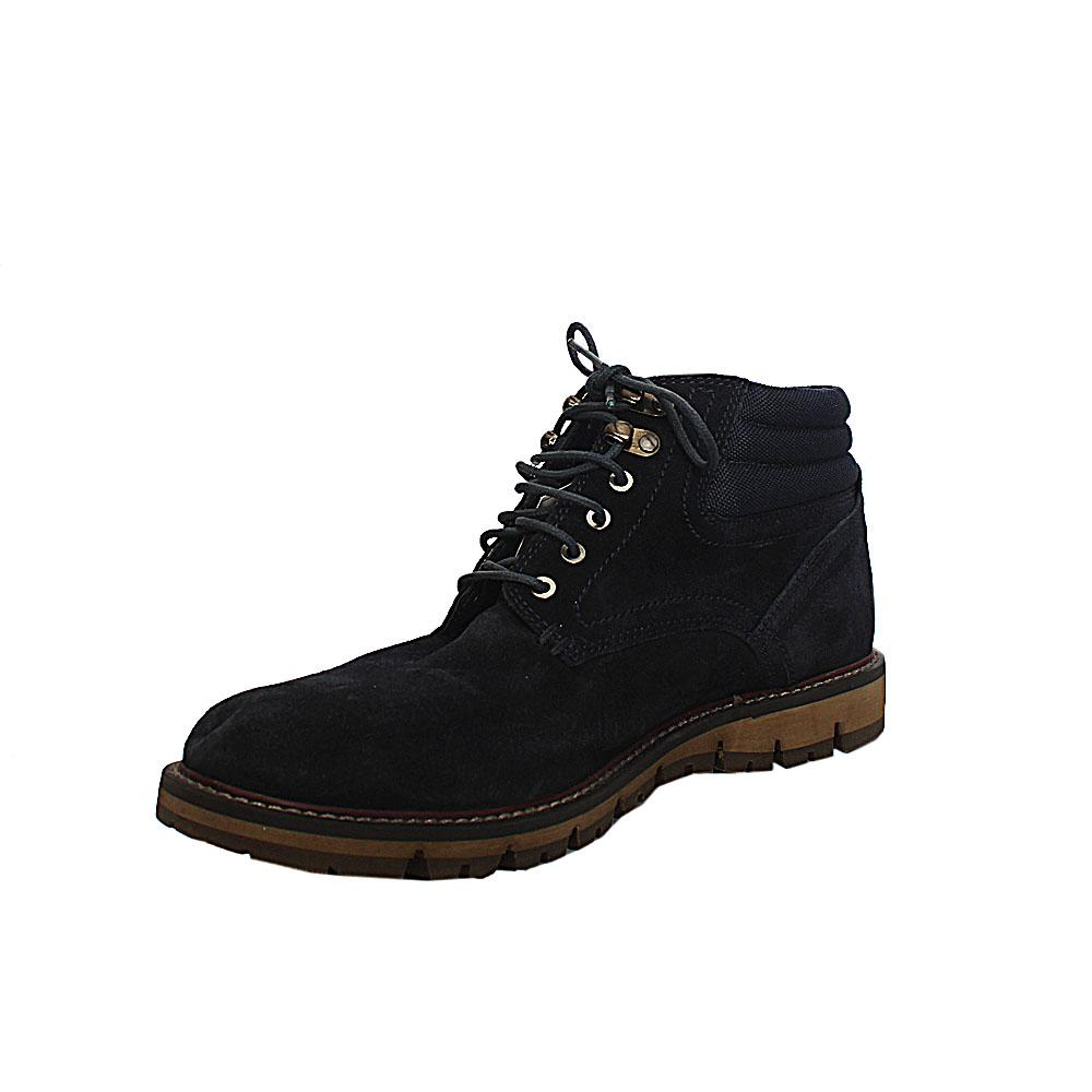 M & S Dauset Chukka Blue Suede Leather Men Ankle Boot