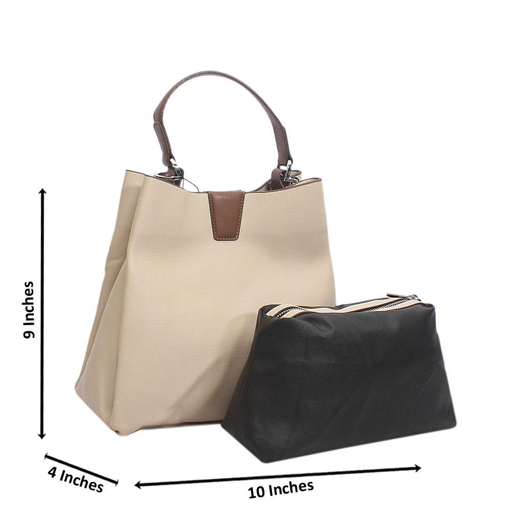 Beige Bucket Style Top Handle Small Tuscany Leather Handbag
