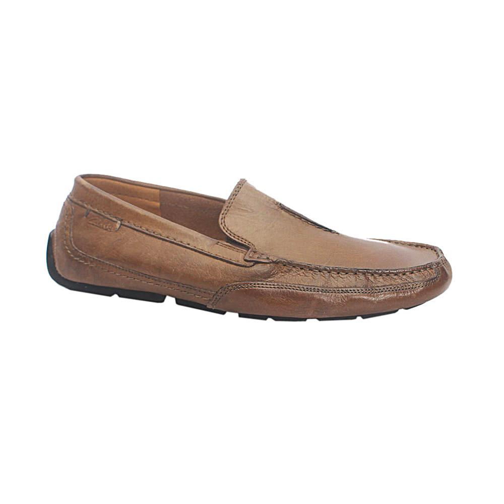 Clarks Ortholite Light Brown Leather Loafers