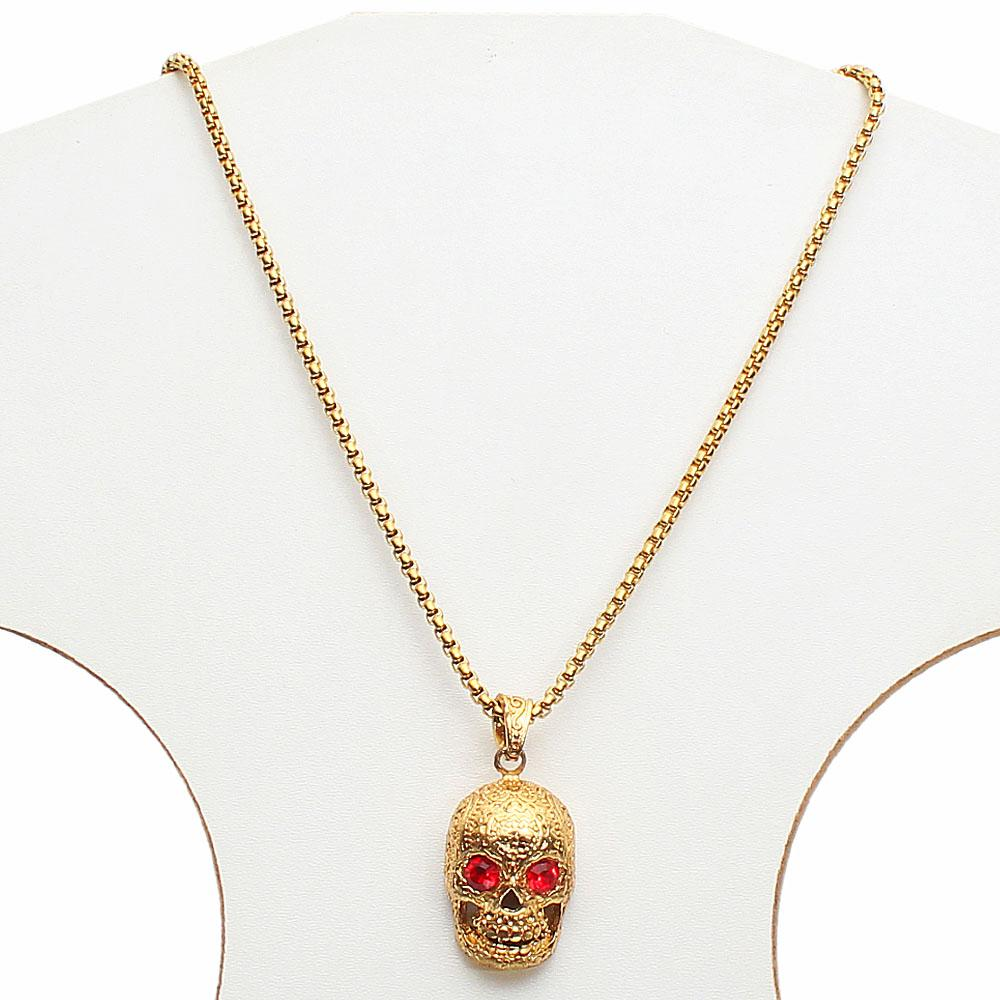 Ghost Rider Gold Necklace