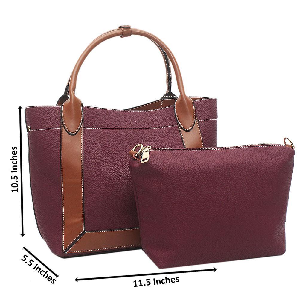 Marron Brown Nice Medium Leather Handbag