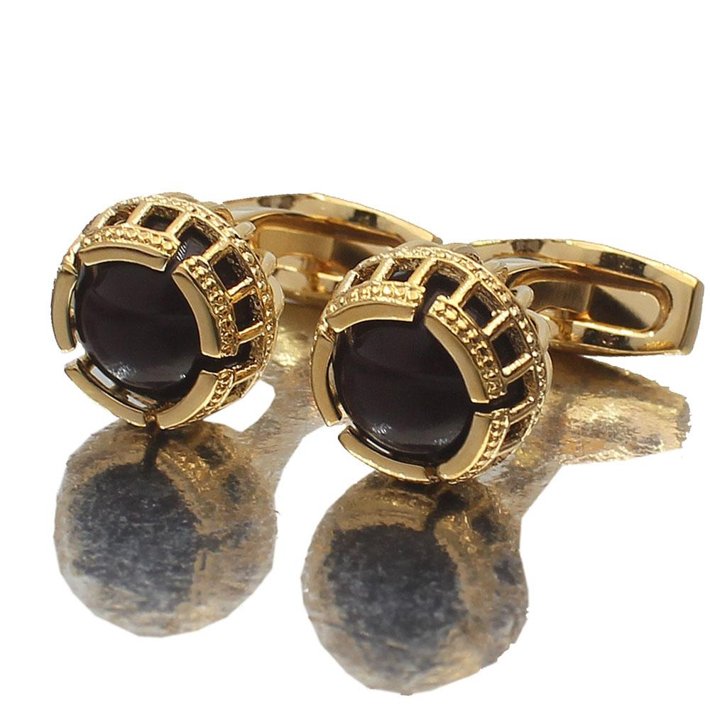 Gold Precious Pearl Stainless Steel Cufflinks