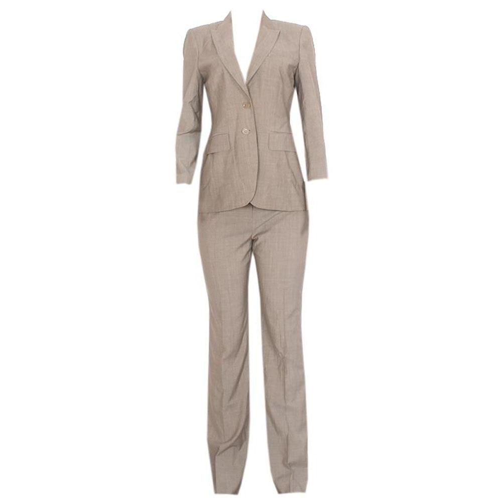 Austin Reed Signature Light Brown Ladies Pant Suit - UK 12