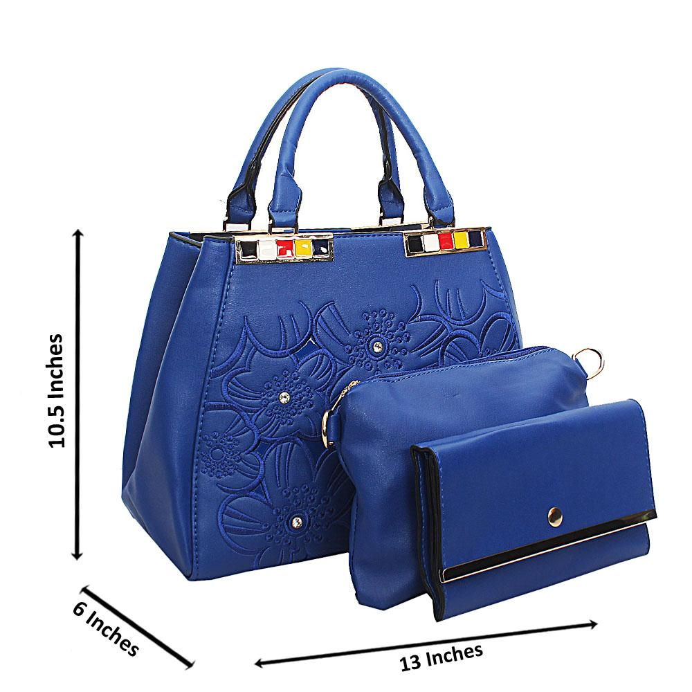 Blue Arabella Tuscany Leather Top Handle Handbag