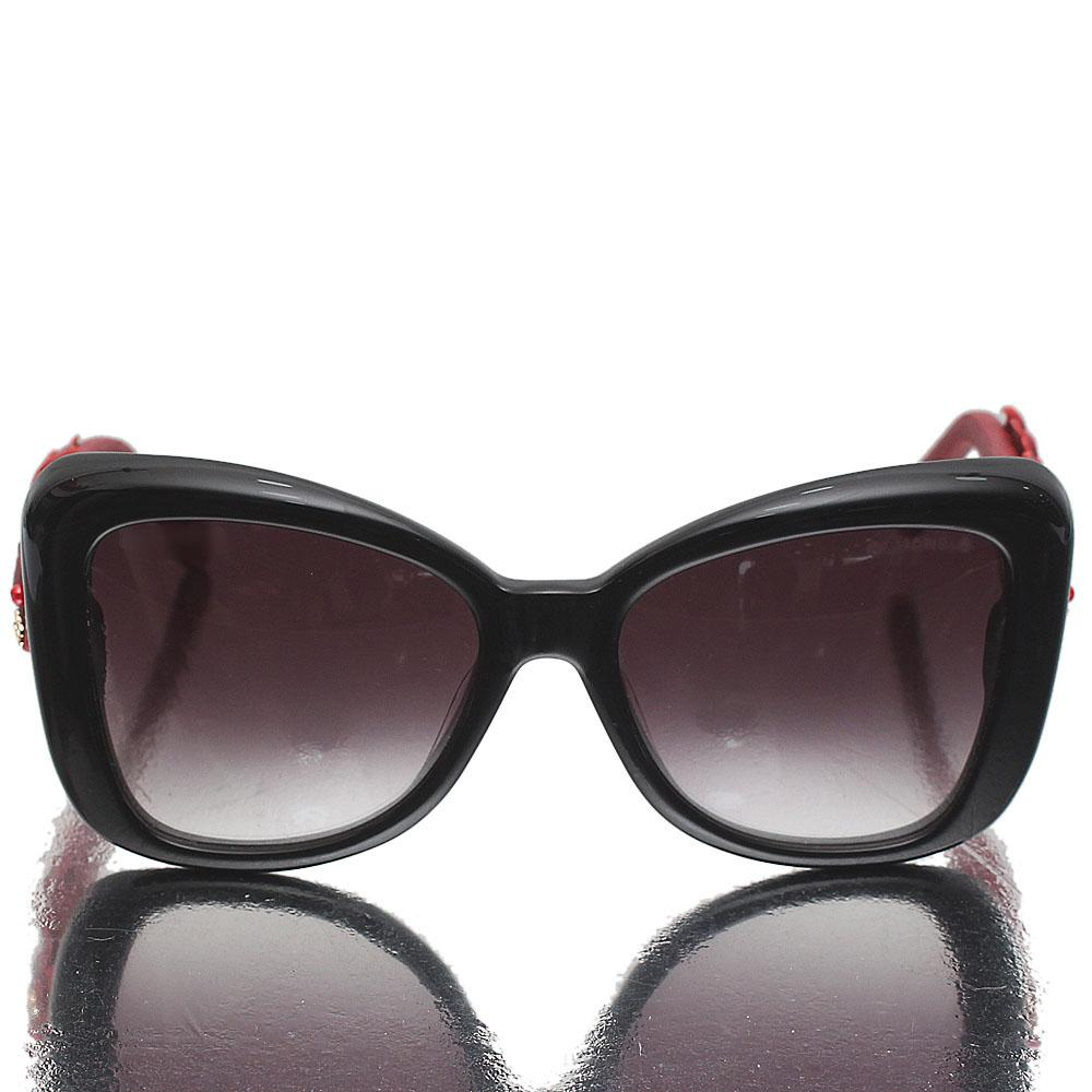 Red Black Butterfly Dark Lens Sunglasses