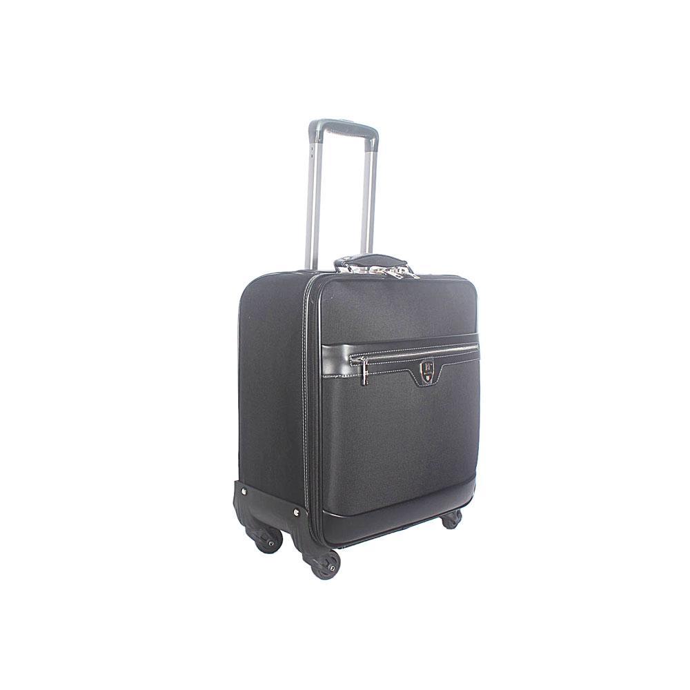 Black Cordura 16 Inch Fabric Pilot Suitcase Wt Lock