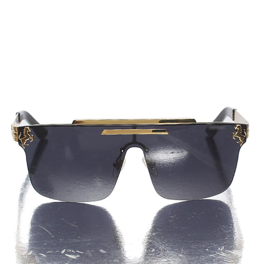 Gold-Black-Shield-Lens-Sunglasses