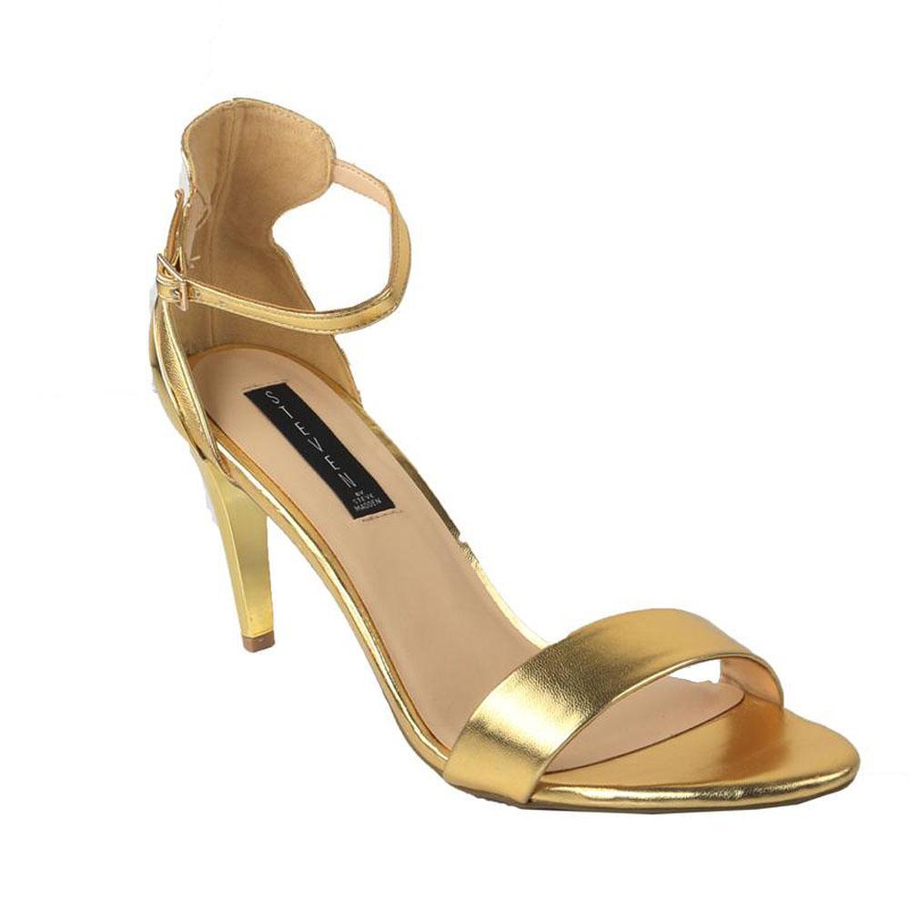 Steve Madden Gold Leather Ladies Heel Sandal-44