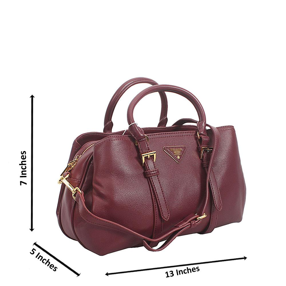 Wine Amai Tuscany Leather Small Tote Handbag