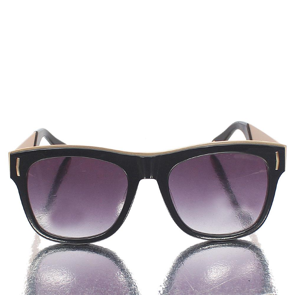 Gold Black Captain Wayfarer Sunglasses