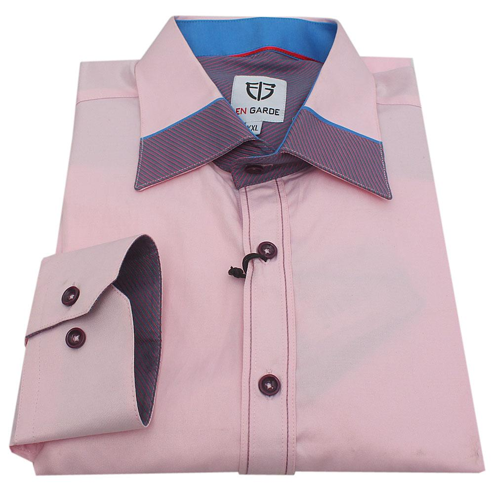 EN Garde Pink L/Sleeve Slimfit Men Shirt