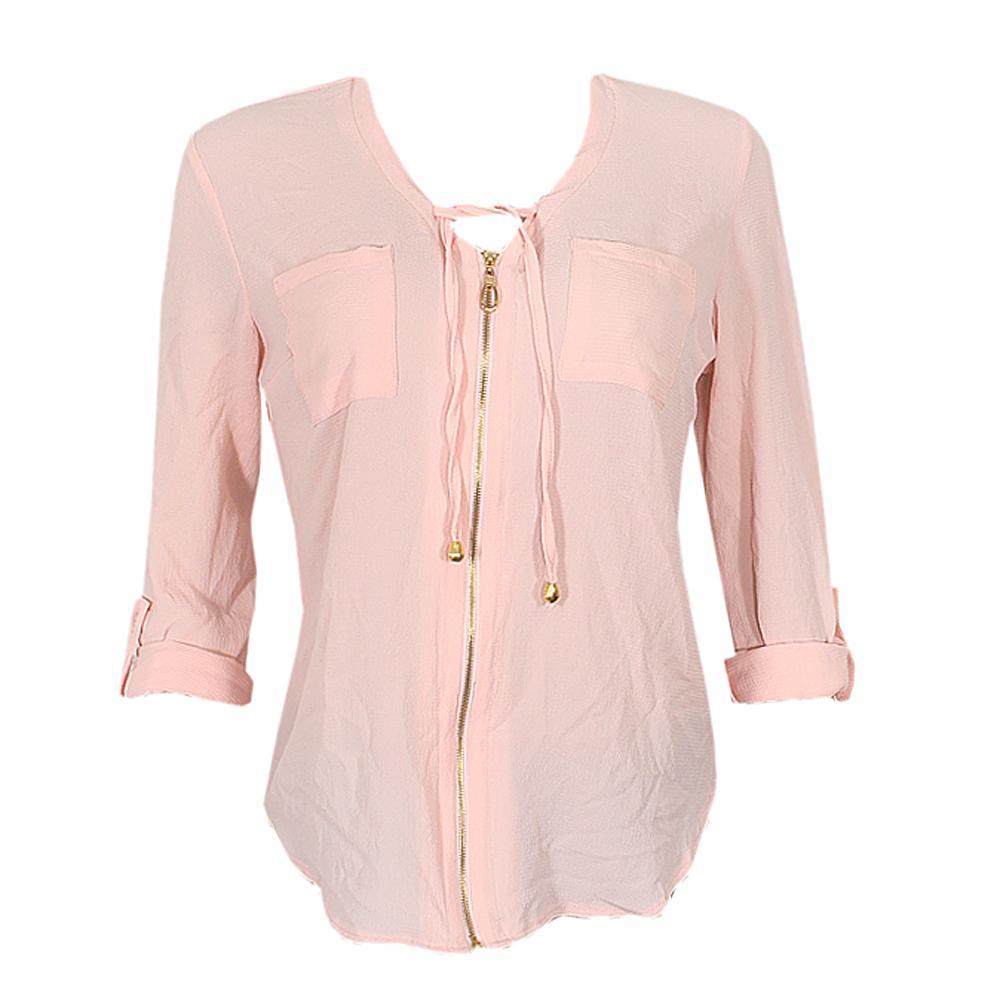 Queen Peach Ladies L/Sleeve Anchor Shirt