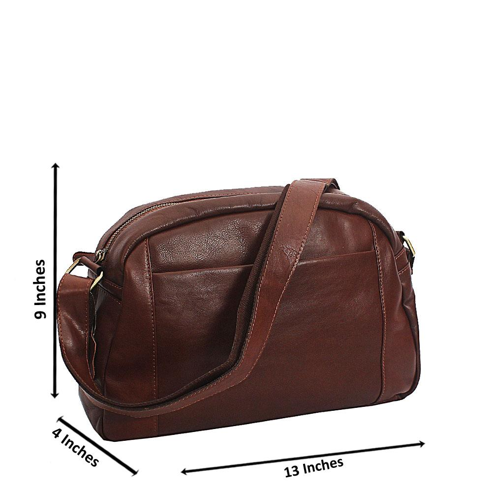 Brown Vintage Side Crossbody Leather Man Bag