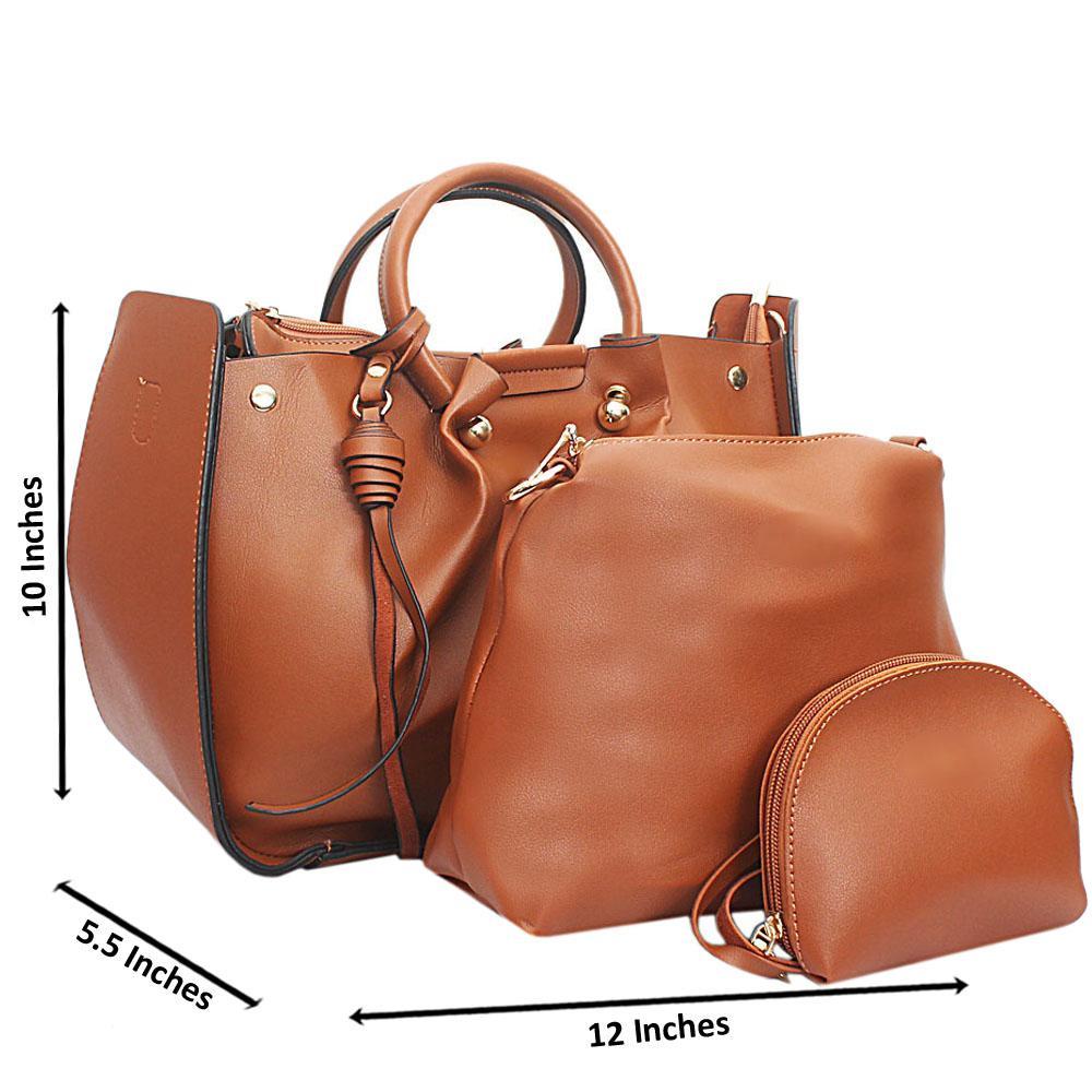 Brown Leather Medium Nice Handbag