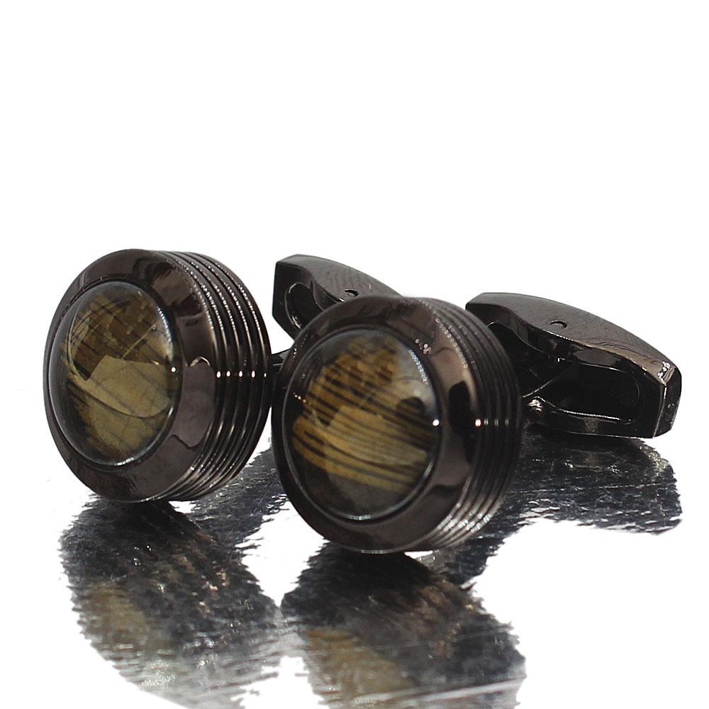 Black Pearl Stainless Steel Cufflinks