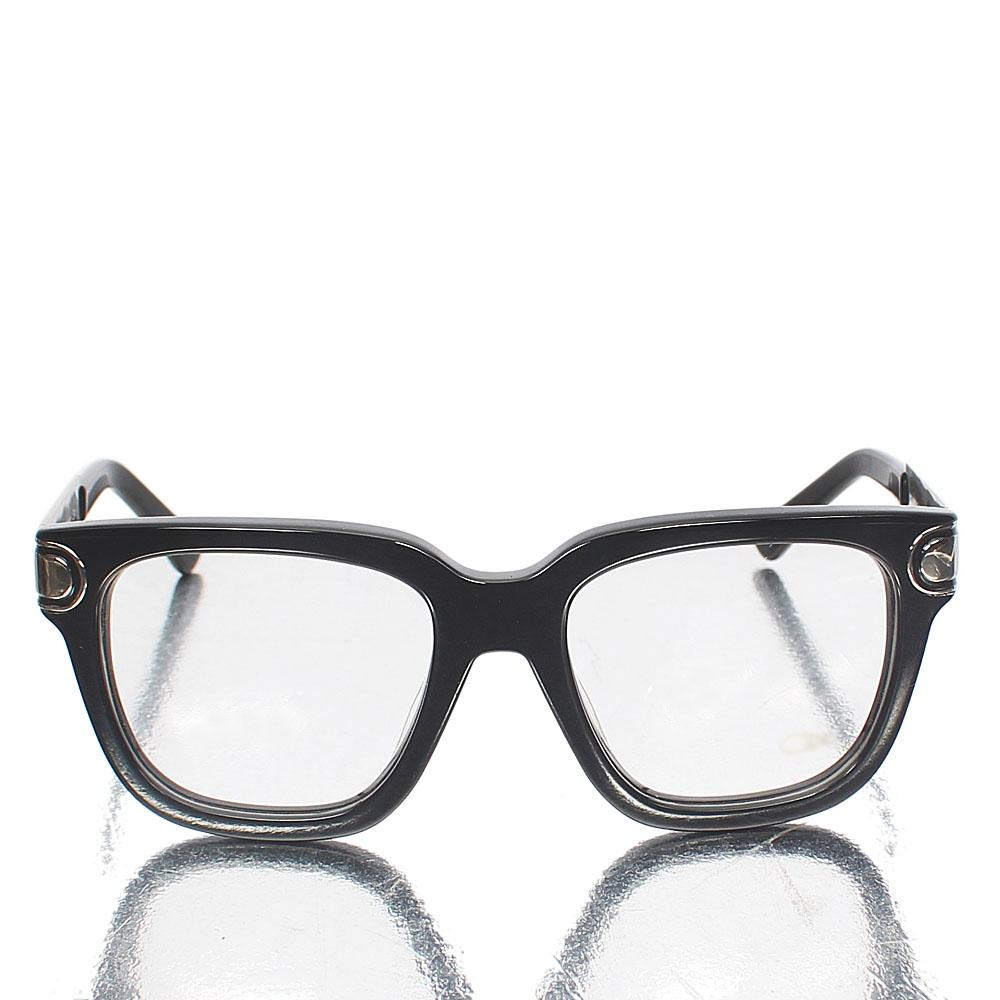Silver Black Oxford Wayfarer Clear Lens Glasses