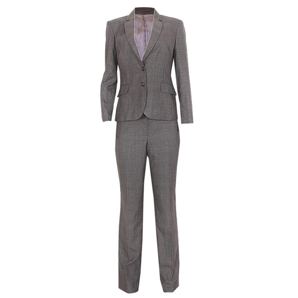 Austin Reed Signature Gray/Blue Check Ladies Pant Suit - UK 14
