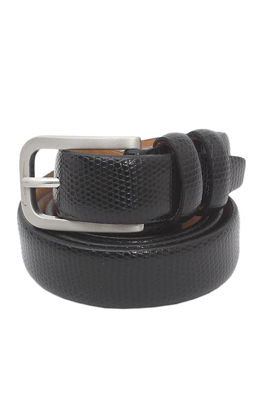 Collezione Black Men Leather Belt