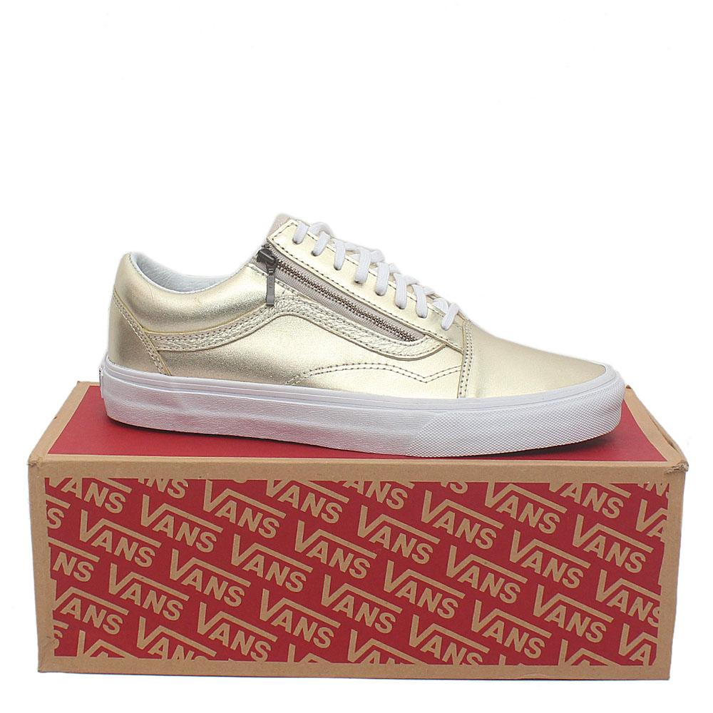 Vans Champagne Gold Premium Leather Men Sneakers
