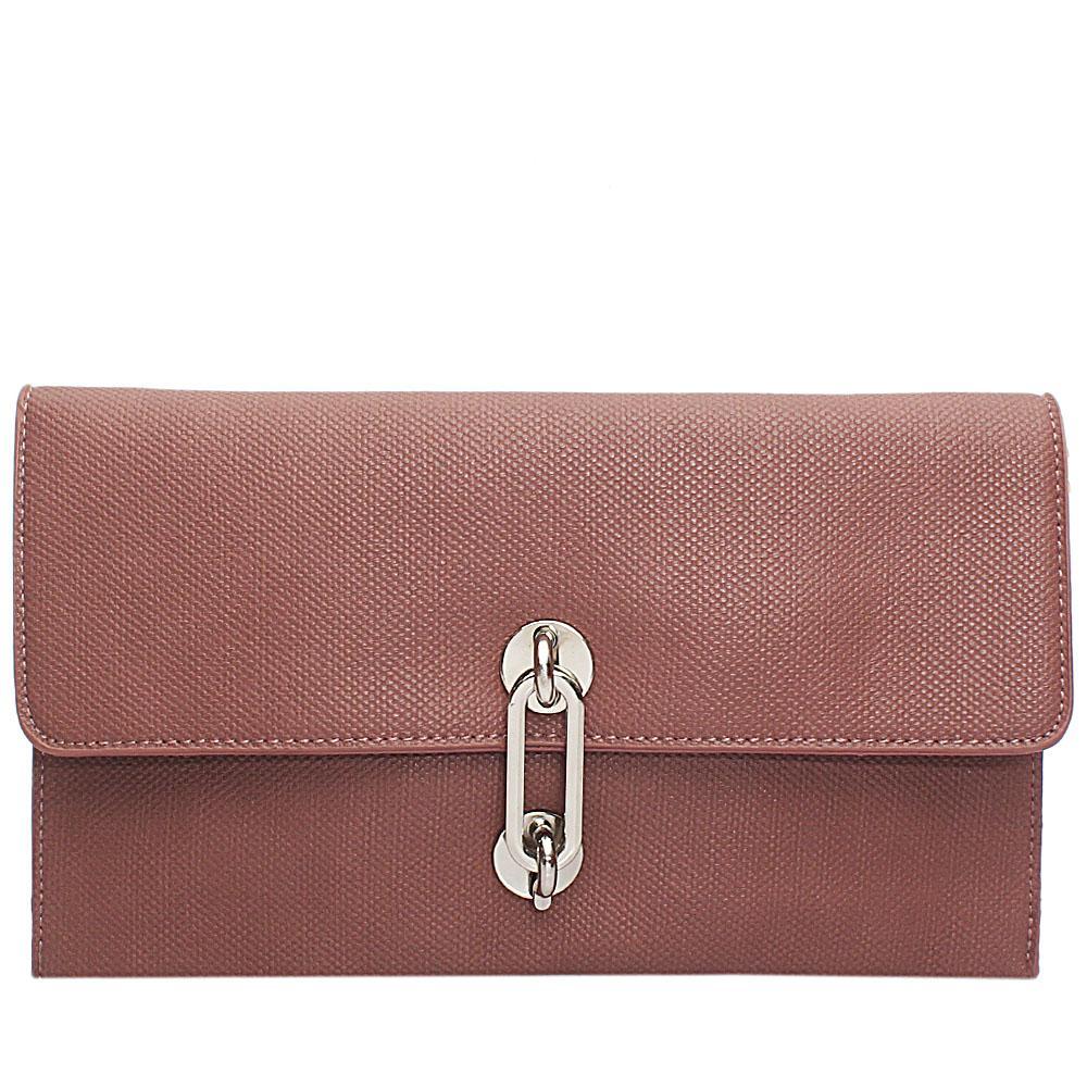 Pink Acacio Leather Flat Purse