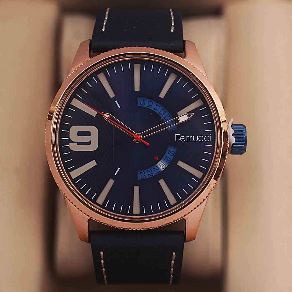 Ferruci Saligari Black Leather Watch