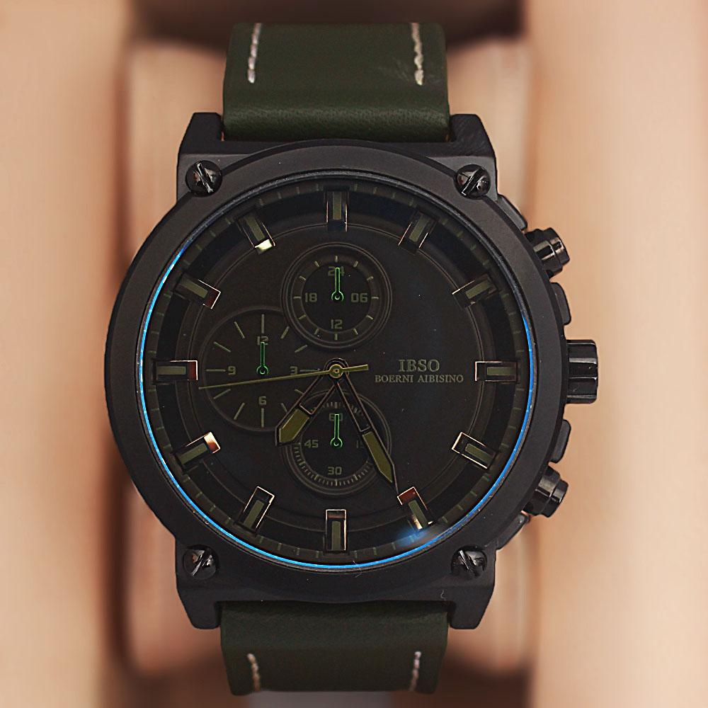Iron Man Green Croc Leather Watch