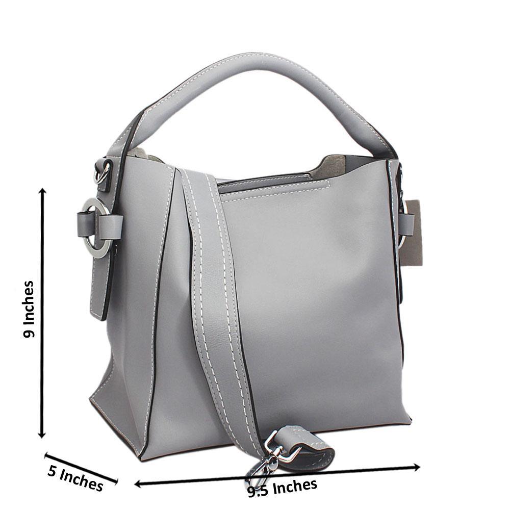 Grey City Girl Small Single Handle Tote Tuscany Leather Handbag